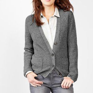 Gap Gray Wool Blend Shaker Button Front Cardigan